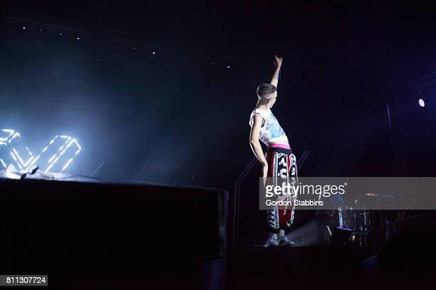 Olly Alexander of Years Years performs live during day three of Exit Festival on July 7 2017 in Novi Sad Serbia