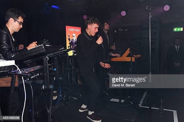 Olly Alexander performs with his band Years Years at The Business of Fashion celebrating the #BOF500 the people shaping the global fashion industry...