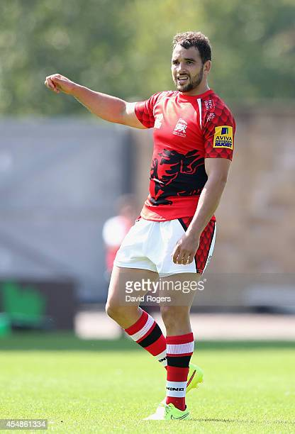 Olly Barkley of London Welsh looks on during the Aviva Premiership match between London Welsh and Exeter Chiefs at the Kassam Stadium on September 7...