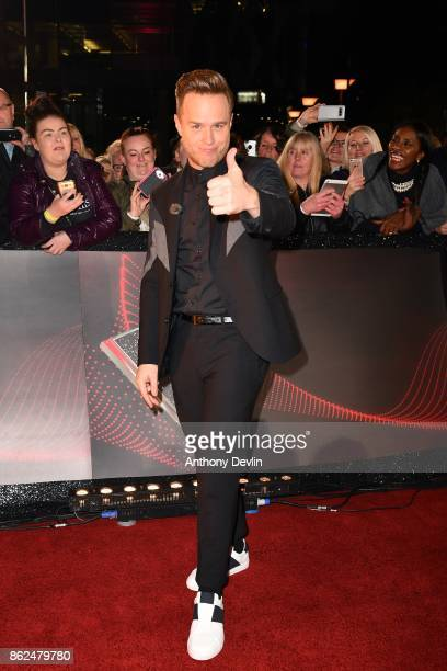 Olly Murs arrives during The Voice UK 2018 launch photocall at Media City on October 17 2017 in Manchester England