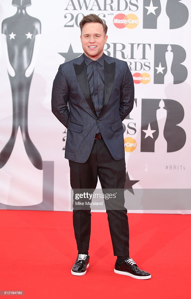 <a gi-track='captionPersonalityLinkClicked' href=/galleries/search?phrase=Olly+Murs&family=editorial&specificpeople=6350751 ng-click='$event.stopPropagation()'>Olly Murs</a> attends the BRIT Awards 2016 at The O2 Arena on February 24, 2016 in London, England.