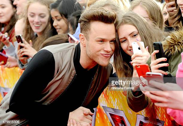 Olly Murs attends the first auditions for The X Factor 2015 on July 8 2015 at Event City in Manchester England