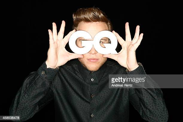 Olly Murs is seen backstage at the GQ Men Of The Year Award 2014 at Komische Oper on November 6 2014 in Berlin Germany