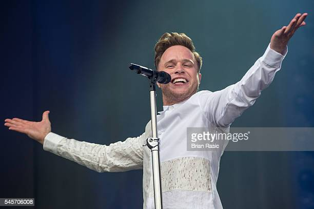 Olly Murs performs as part of British Summer Time Festival at Hyde Park on July 9 2016 in London England