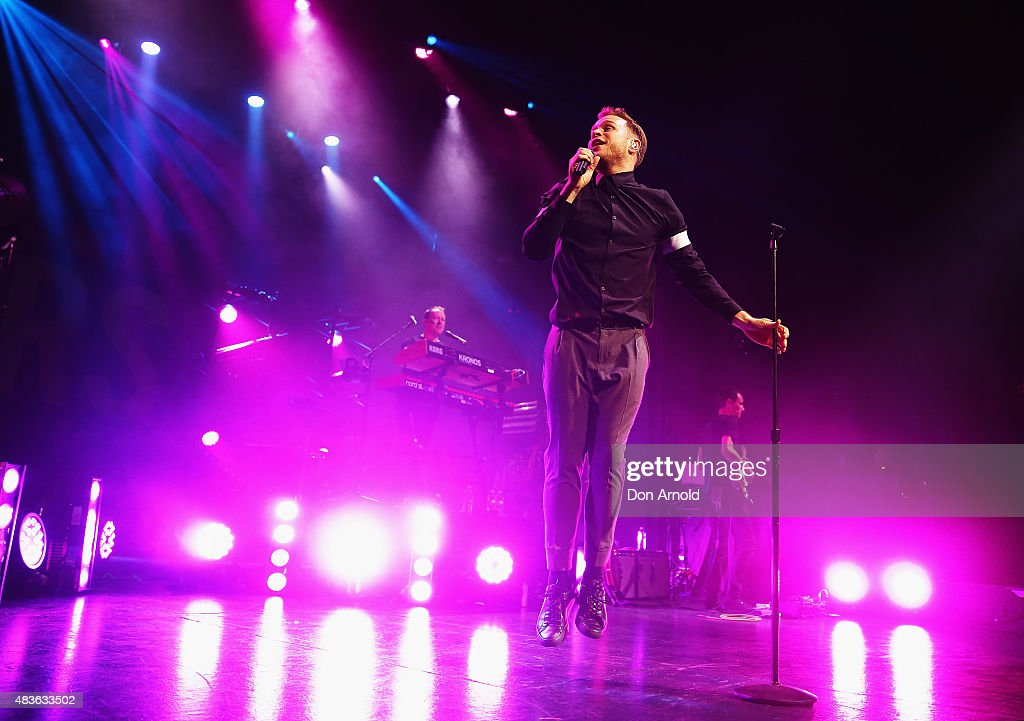 Olly Murs performs at Enmore Theatre on August 11 2015 in Sydney Australia