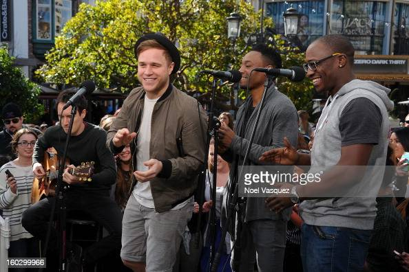 Olly Murs performs at Extra at The Grove on January 28 2013 in Los Angeles California