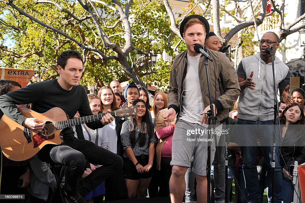 Olly Murs performs at Extra at The Grove on January 28, 2013 in Los Angeles, California.