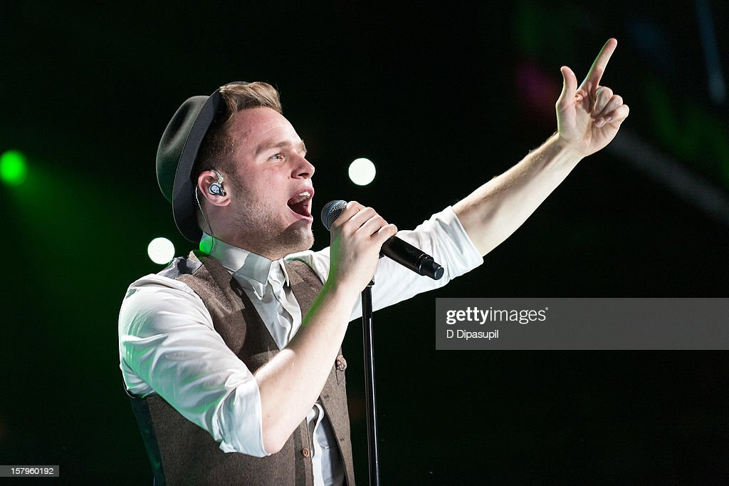 Olly Murs performs during Z100's Jingle Ball 2012 presented by Aeropostale at Madison Square Garden on December 7, 2012 in New York City.