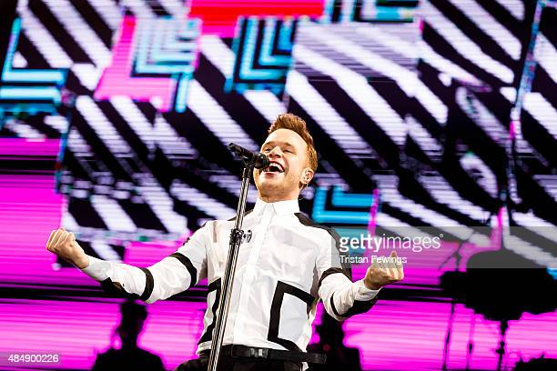 Olly Murs performs on Day 1 of the V Festival at Hylands Park on August 22 2015 in Chelmsford England