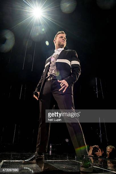 Olly Murs performs on stage at The O2 Arena on May 3 2015 in London United Kingdom