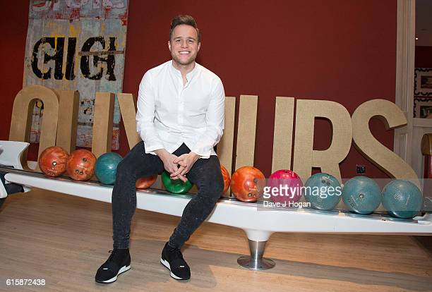 Olly Murs poses for photos during his new album '24HRS' playback at Ham Yard Hotel on October 20 2016 in London England