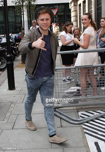 Olly Murs sighting at BBC Radio Two on August 23 2013 in London England