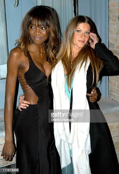 Oluchi Onweagba and Gisele Bundchen during Victoria Secret Launches New Sexy Photo Book 'Backstage Sexy' at Spice Market in New York City New York...
