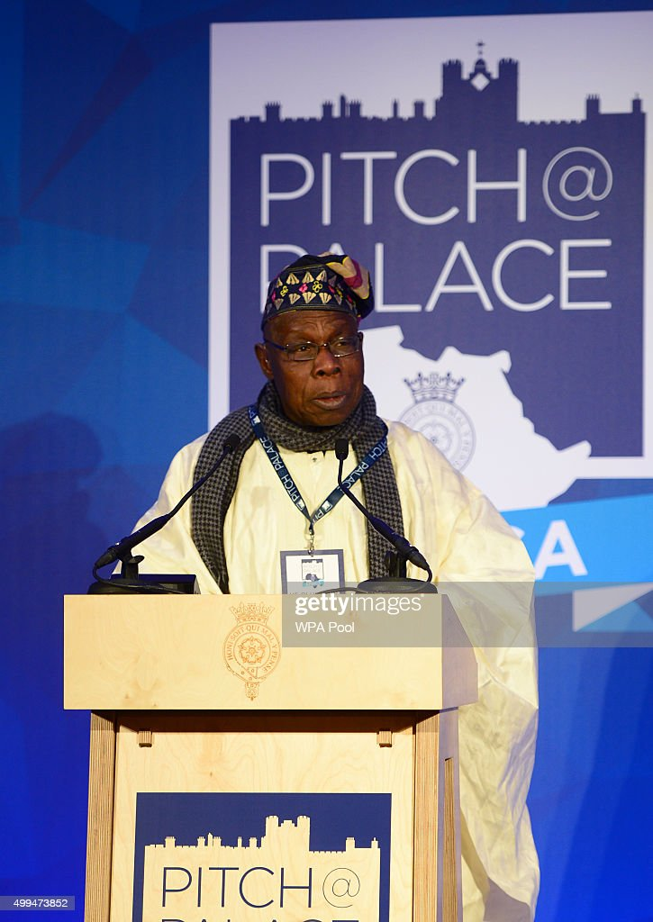 Olusegun Obasanjo, former president of Nigeria speaks during the London Global African Investment Summit at St James' Palace on December 1, 2015 in London, England.