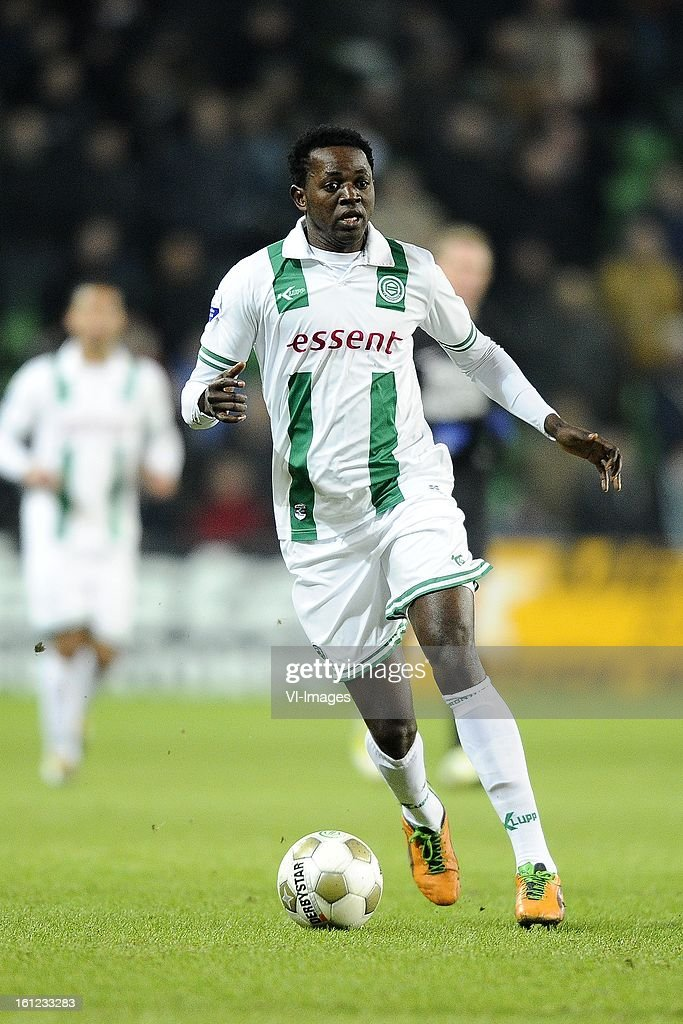 Oluwafemi Ajilore of FC Groningen, during the Dutch Eredivisie match between FC Groningen and RKC Waalwijk at the Euroborg on february 9, 2013 in Groningen, The Netherlands