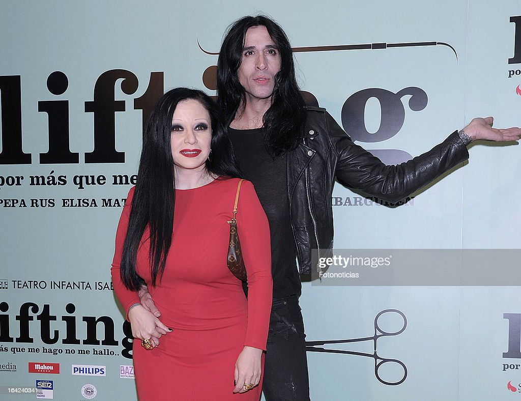 Olvido Gara, Alaska, and Mario Vaquerizo attend the premiere of 'Lifting' at the Infanta Isabel theatre on March 21, 2013 in Madrid, Spain.