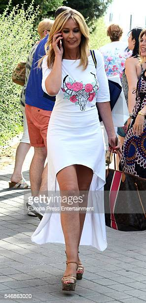 Olvido Hormigos is seen on July 12 2016 in Madrid Spain