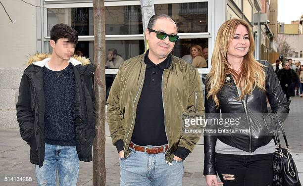 Olvido Hormigos Jesus Atahonero and their son are seen on March 4 2016 in Madrid Spain