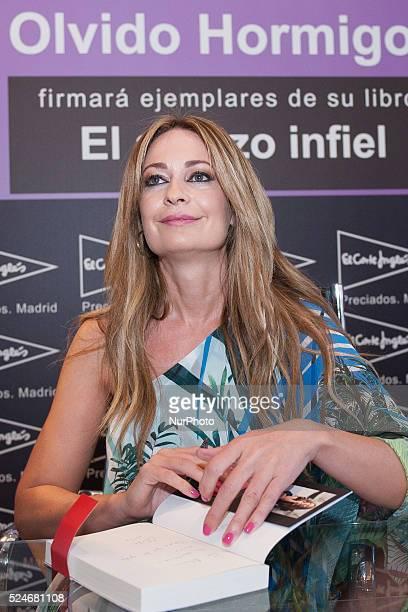 Olvido Hormigos signing books in the center El Corte Ingles PreciadosCallao Shopping Center in Madrid Photo Oscar Gonzalez/NurPhoto
