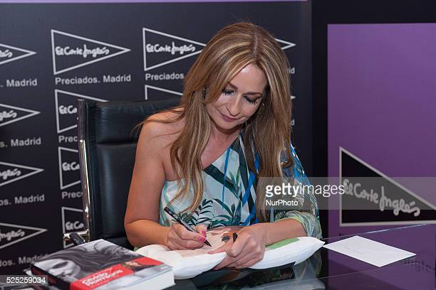 Olvido Hormigos signing books in the center El Corte Ingles PreciadosCallao Shopping Center in Madrid Photo Oscar Gonzalez/NurPhoto