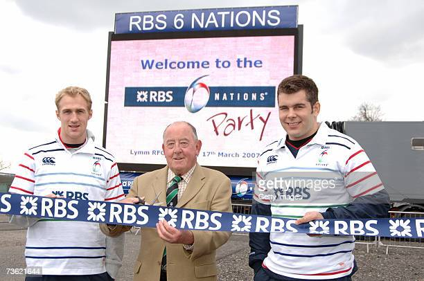 Oly Morgan Neil Ferguson of Lymm RFC and Nick Easter attend an RBS Six Nations party at Lymm RFC on March 2007 in Lymm England Lymm RFC was one of...