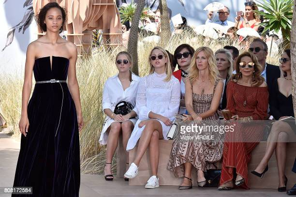 Olympia de Grece Sandrine Kiberlain Marisa Berson and Nathalie Portman during the Christian Dior Haute Couture Fall/Winter 20172018 show as part of...