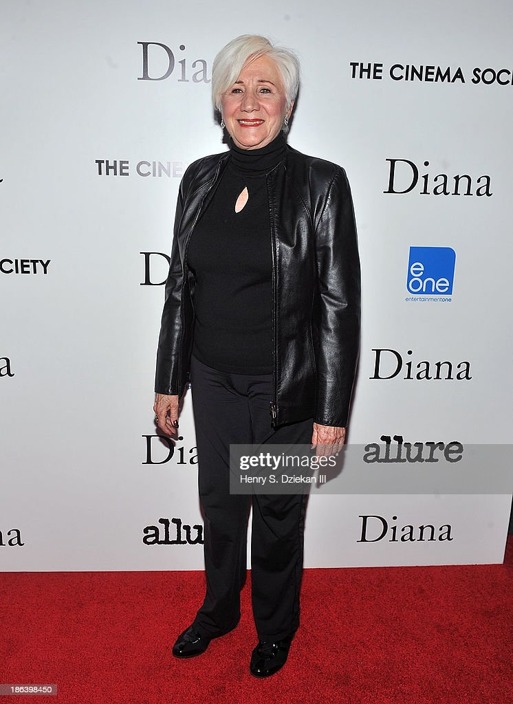 <a gi-track='captionPersonalityLinkClicked' href=/galleries/search?phrase=Olympia+Dukakis&family=editorial&specificpeople=225091 ng-click='$event.stopPropagation()'>Olympia Dukakis</a> attends The Cinema Society with Linda Wells & Allure Magazine premiere of Entertainment One's 'Diana' at SVA Theater on October 30, 2013 in New York City.