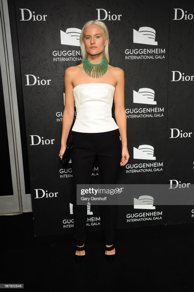 <a gi-track='captionPersonalityLinkClicked' href=/galleries/search?phrase=Olympia+Scarry&family=editorial&specificpeople=642366 ng-click='$event.stopPropagation()'>Olympia Scarry</a> attends the Guggenheim International Gala, made possible by Dior, at the Guggenheim Museum on November 7, 2013 in New York City.