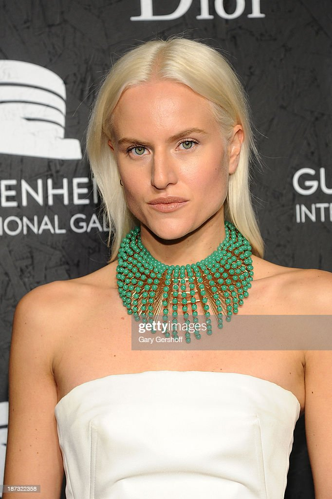 Olympia Scarry attends the Guggenheim International Gala, made possible by Dior, at the Guggenheim Museum on November 7, 2013 in New York City.