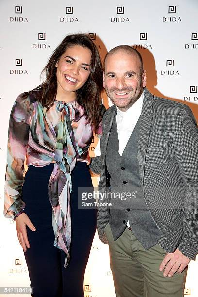 Olympia Valance and George Calombaris attend the DIIDA flagship store launch in SOuth Yarra on June 22 2016 in Melbourne Australia