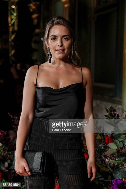Olympia Valance arrives ahead of the KOOKAI AW17 Media Showcase at The George Ballroom on April 4 2017 in Melbourne Australia