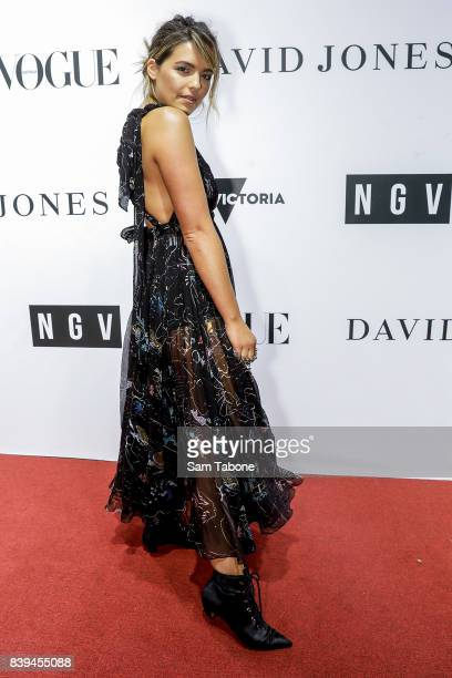 Olympia Valance arrives ahead of the NGV Gala at NGV International on August 26 2017 in Melbourne Australia