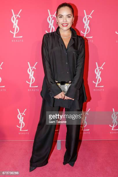 Olympia Valance arrives at Meat Market as YSL Beauty Club Takes Over Melbourne on April 27 2017 in Melbourne Australia