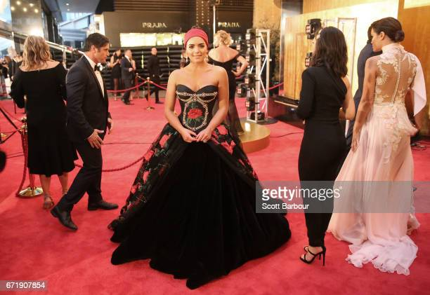 Olympia Valance arrives at the 59th Annual Logie Awards at Crown Palladium on April 23 2017 in Melbourne Australia