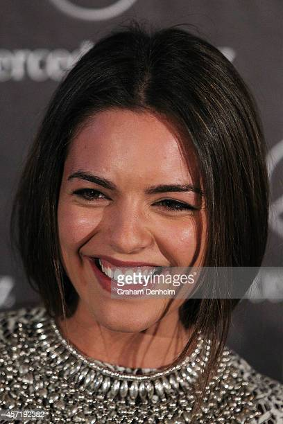 Olympia Valance arrives at The Fashion World of Jean Paul Gaultier Exclusive Preview at NGV International on October 14 2014 in Melbourne Australia