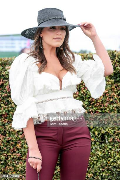 Olympia Valance attends Caulfield Cup Day at Caulfield Racecourse on October 21 2017 in Melbourne Australia