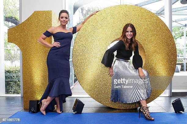 Olympia Vallance and Jodi Anasta during Network Ten 2017 Upfronts on November 7 2016 in Melbourne Australia