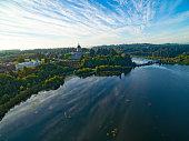 Olympia Washington State Capitol State Legislature Government Building and Lake Landscape