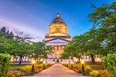 Olympia, Washington, USA state capitol building at dusk.