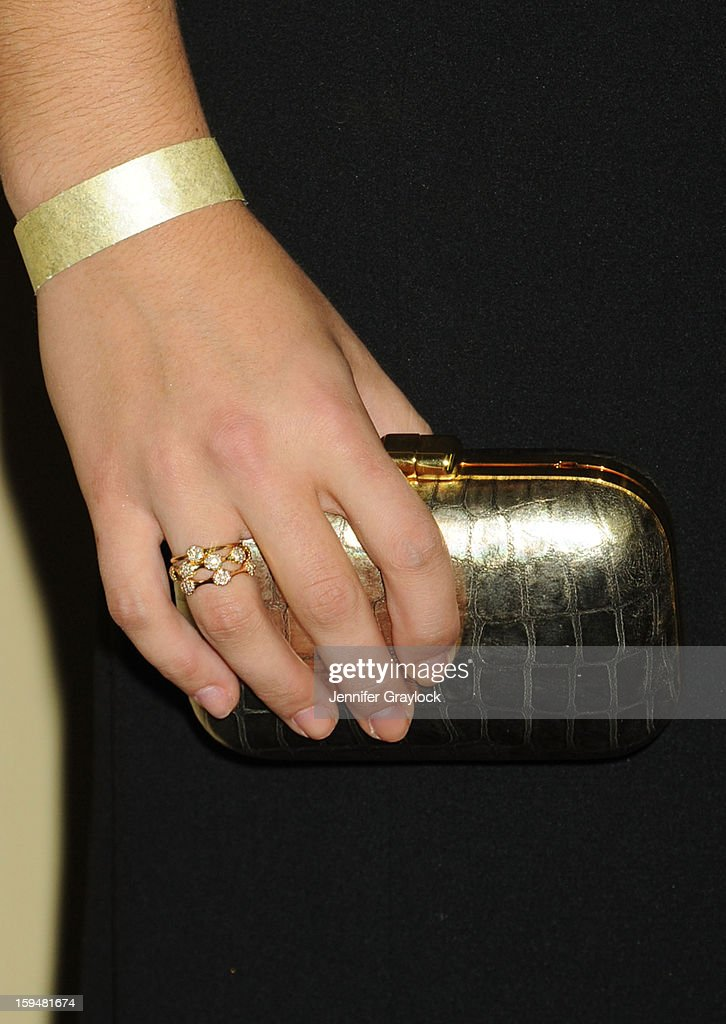 Olympiac Gymnast Ali Raisman (jewellery detail) attends The Weinstein Company's 2013 Golden Globes After Party held at The Old Trader Vic's in The Beverly Hilton Hotel on January 13, 2013 in Beverly Hills, California.