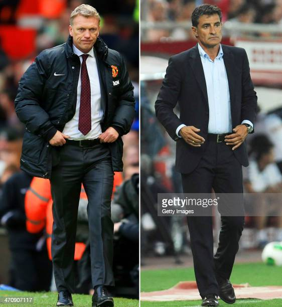 IMAGES Image Numbers 454115043 and 179655465 In this composite image a comparison has been made between David Moyes the Manchester United manager and...