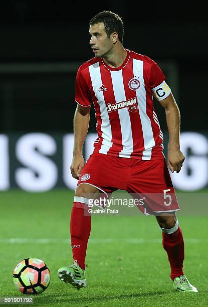 Olympiacos FC's midfielder from Serbia Luka Milivojevic in action during the UEFA Europa League match between FC Arouca and Olympiacos FC at Estadio...