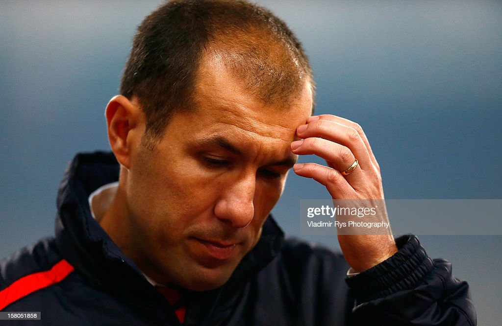 Olympiacos head coach Leonardo Jardim is pictured after the Superleague match between Panathinaikos FC and Olympiacos Piraeus at OAKA Stadium on December 9, 2012 in Athens, Greece.