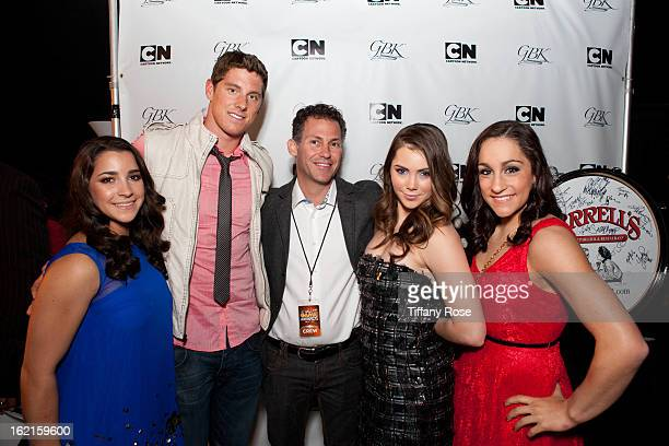 Olympian Aly Raisman Olympian Conor Dwyer Founder and CEO of GBK Productions Gavin Keilly Olympian McKayla Maroney and Olympian Jordyn Wieber attend...