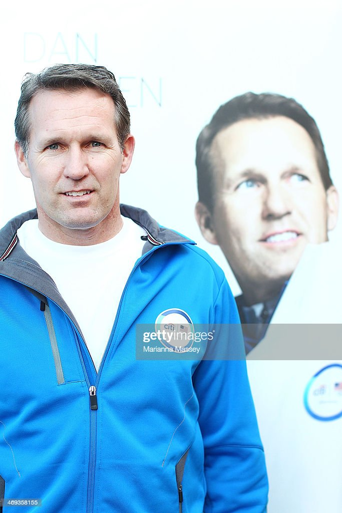 U.S. Olympian <a gi-track='captionPersonalityLinkClicked' href=/galleries/search?phrase=Dan+Jansen&family=editorial&specificpeople=235919 ng-click='$event.stopPropagation()'>Dan Jansen</a> at USA House on February 14, 2014 in Sochi, Russia.