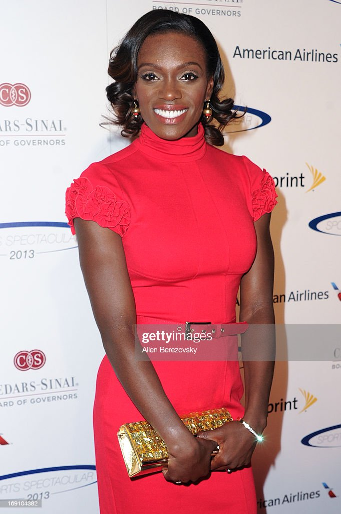 Olympian Dawn Harper arrives at the Sports Spectacular 28th Anniversary Gala at the Hyatt Regency Century Plaza on May 19, 2013 in Century City, California.