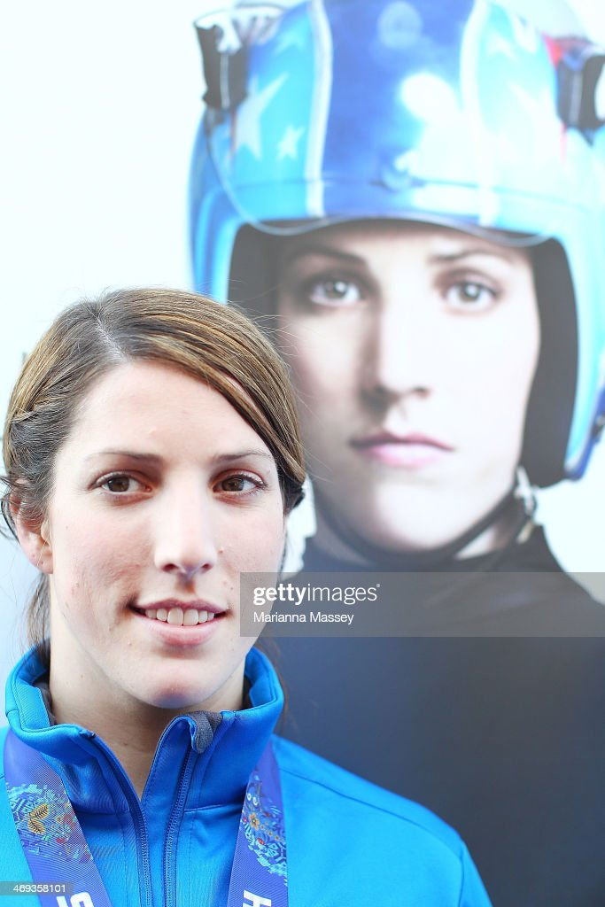 U.S. Olympian Erin Hamlin poses for a portrait at USA House on February 14, 2014 in Sochi, Russia.