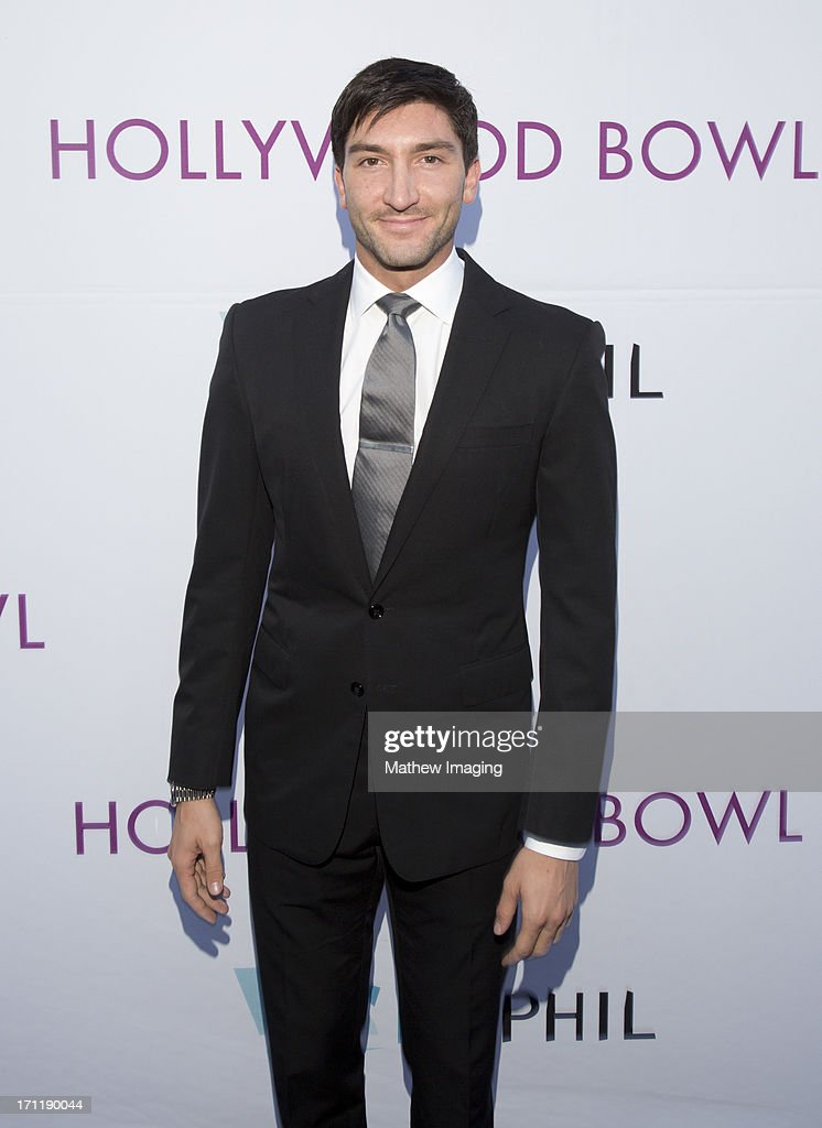Olympian <a gi-track='captionPersonalityLinkClicked' href=/galleries/search?phrase=Evan+Lysacek&family=editorial&specificpeople=243028 ng-click='$event.stopPropagation()'>Evan Lysacek</a> attends Hollywood Bowl Opening Night Gala - Arrivals at The Hollywood Bowl on June 22, 2013 in Los Angeles, California.