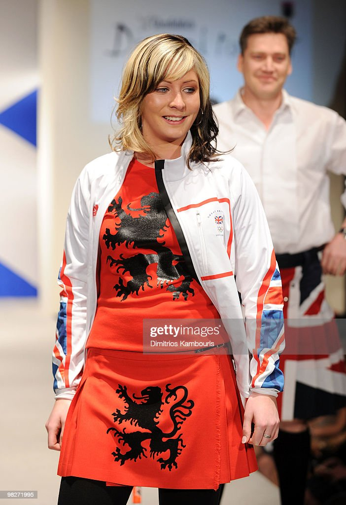 Olympian Eve Muirhead attends the 8th annual 'Dressed To Kilt' Charity Fashion Show at M2 Ultra Lounge on April 5 2010 in New York City