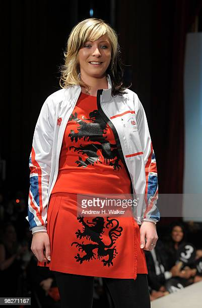 Olympian Eve Muirhead walks the runway at the 8th annual 'Dressed To Kilt' Charity Fashion Show presented by Glenfiddich at M2 Ultra Lounge on April...